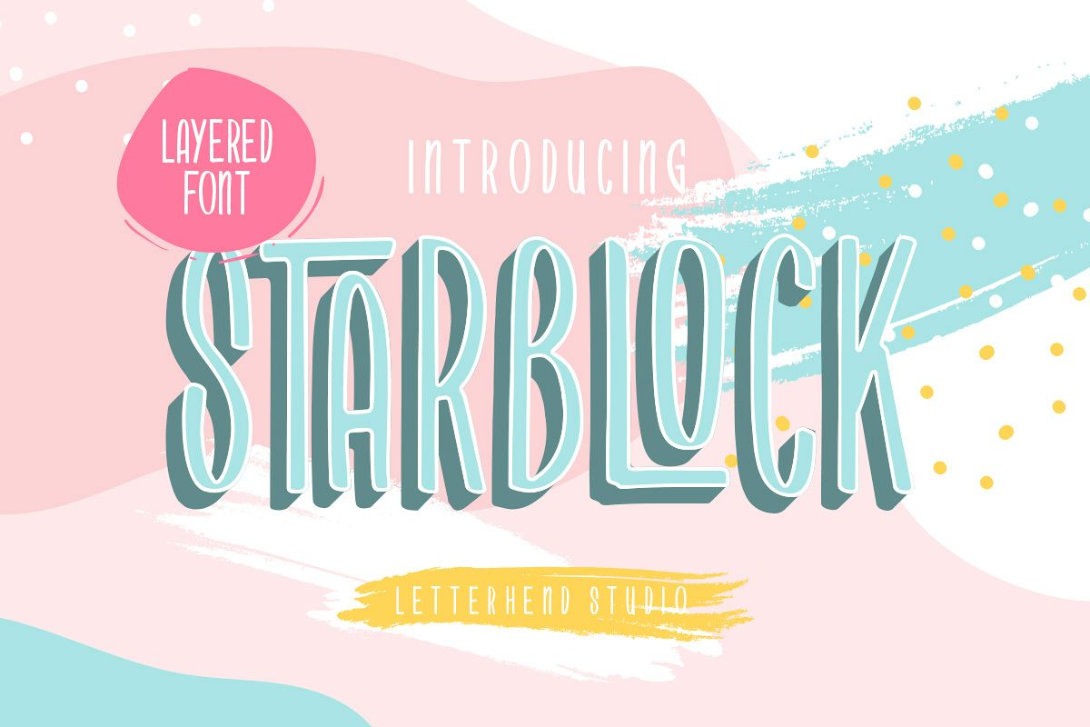 Starblock - Layered Font example image 1