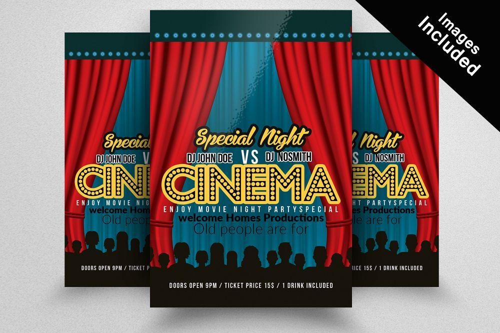 Cinema Movie Night Flyer