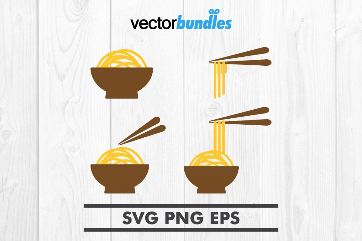 Noodle food clip art svg example image 1