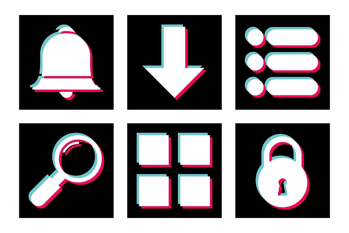 Set Of Basic Elements Icons example image 1