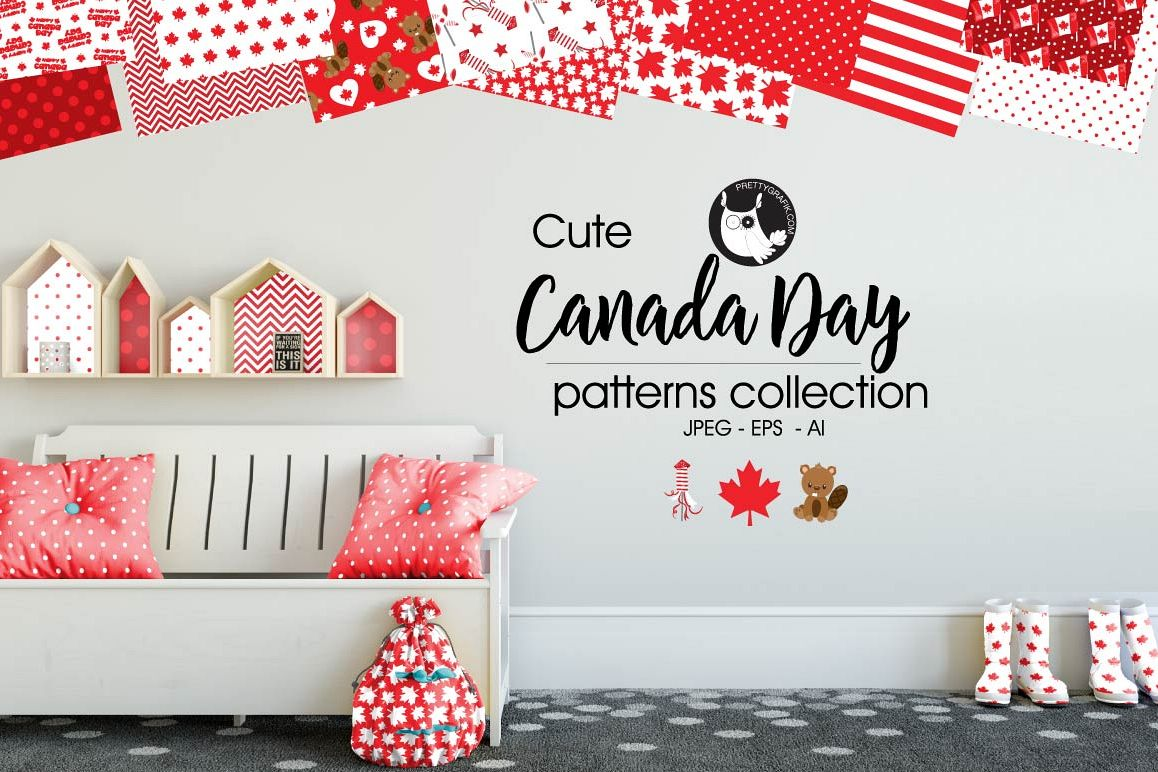CANADA-DAY, digital papers example image 1