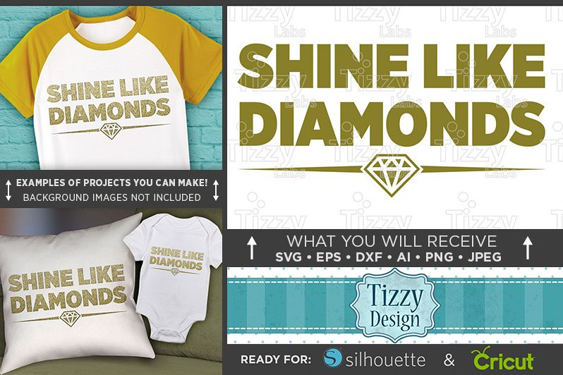 Shine Like Diamonds SVG - Shine Bright Like A Diamond - 1022 example image 1