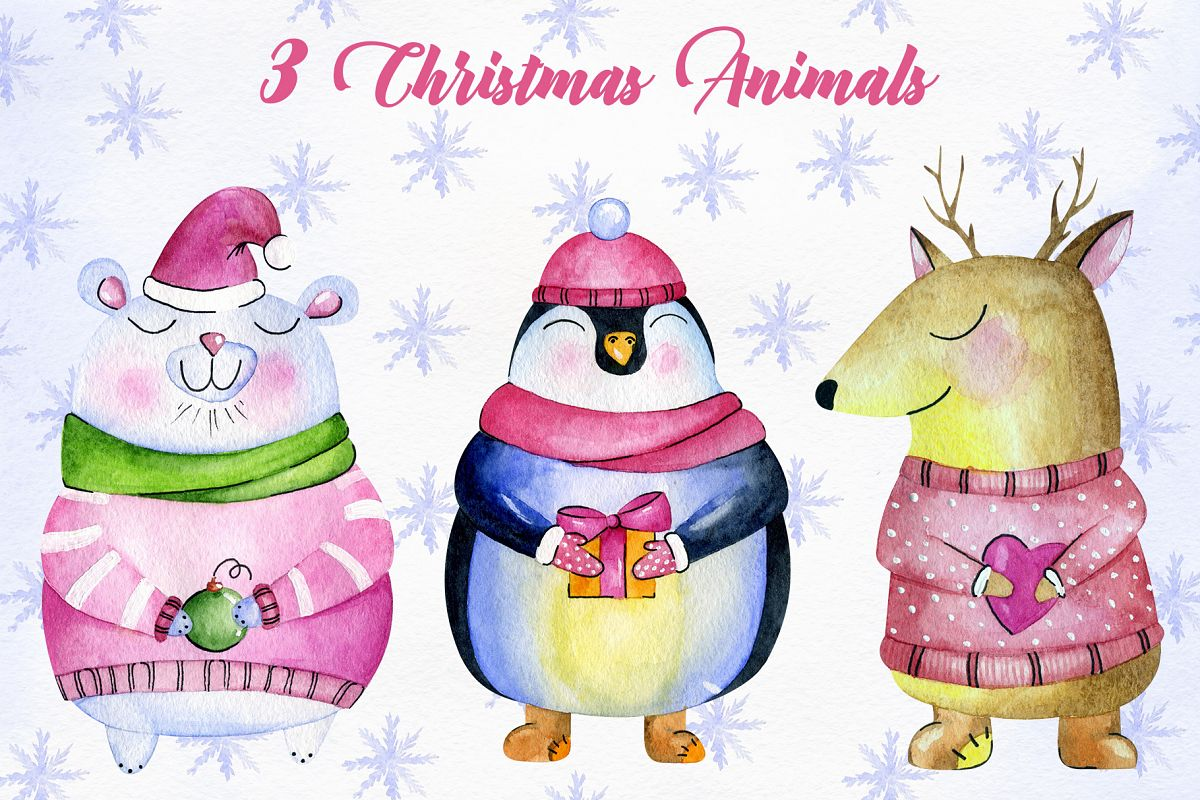 Christmas Animals example image 1