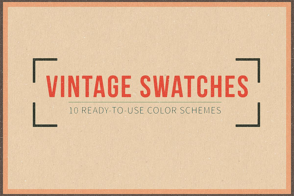 Vintage Swatches Pack example image 1
