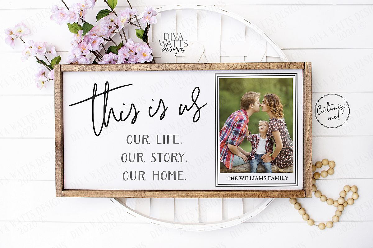 This Is Us - Our Life Our Story Our Home - Customize SVG EPS example image 1