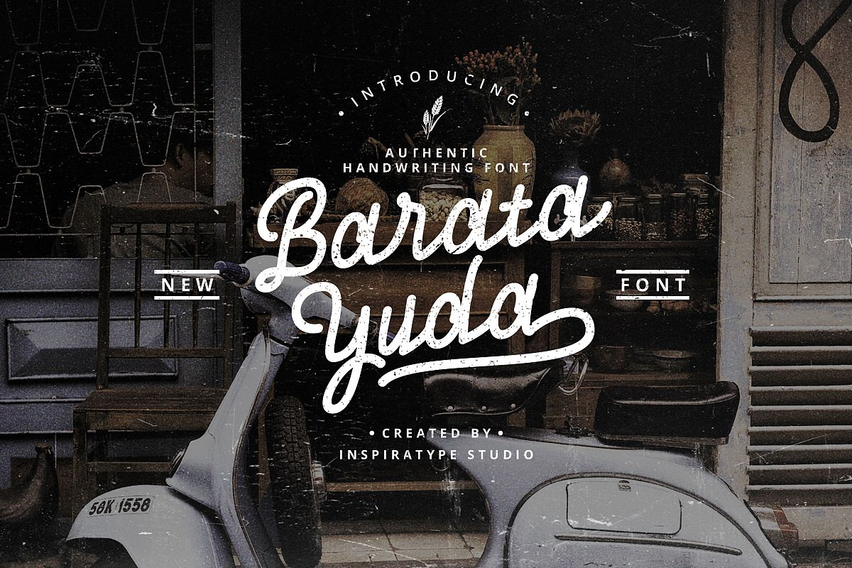 Baratayuda - Authentic Handwriting Font example image 1