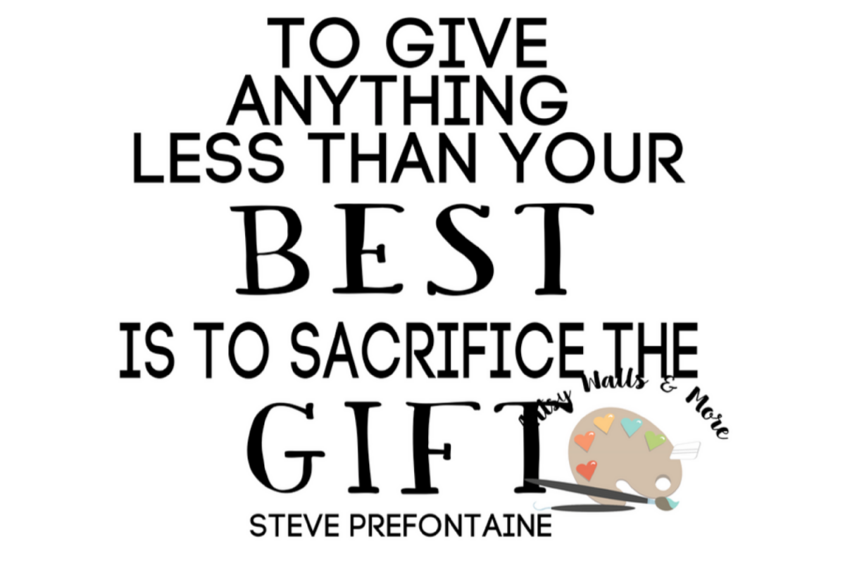 Sacrifice the gift svg steve prefontaine quote running quote example image 1
