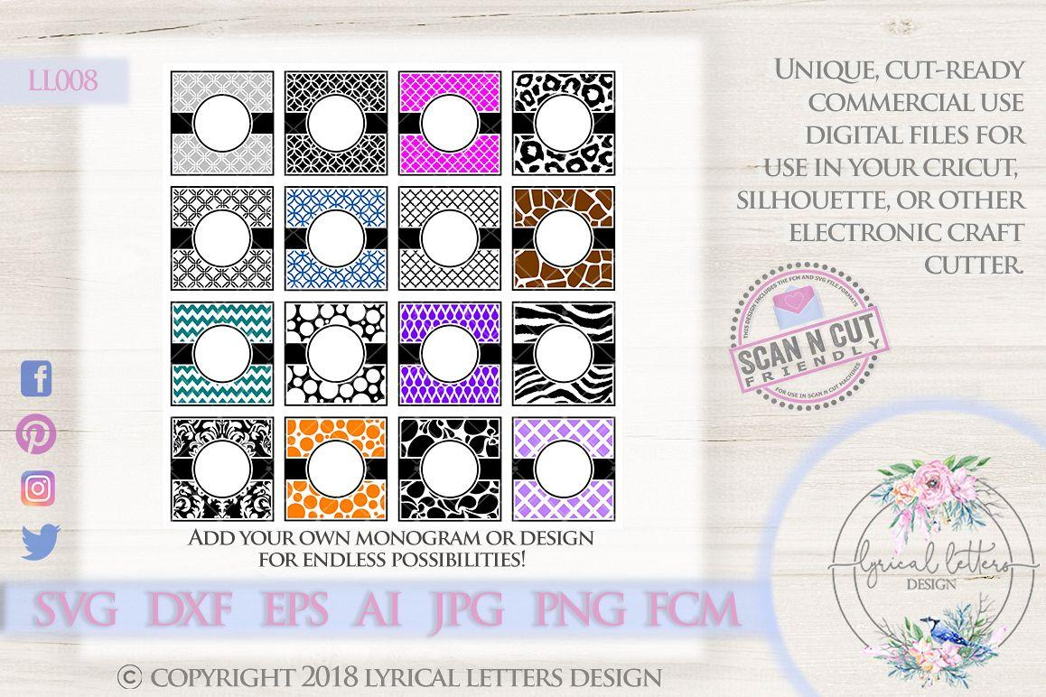 Patterned Monogram Frame Bundle of 16 S | Design Bundles