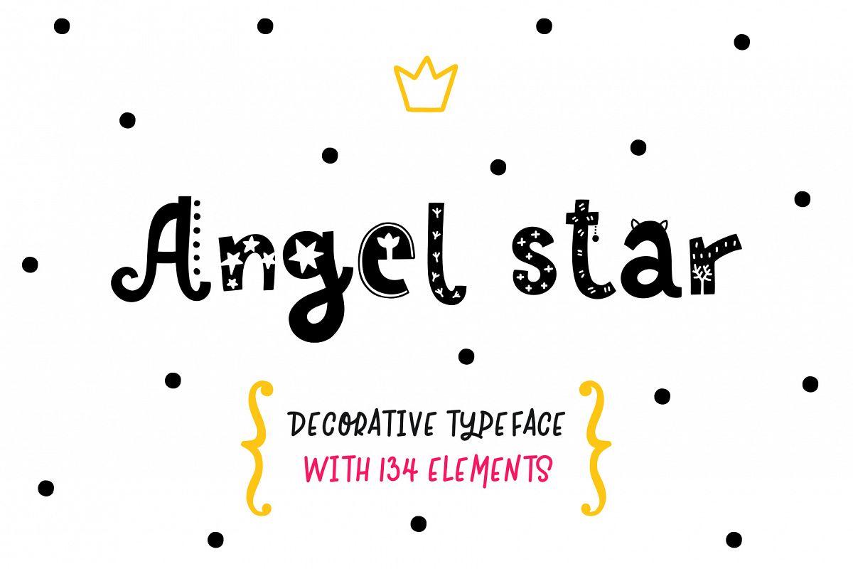 Angel Star - Decorative Typeface example image 1