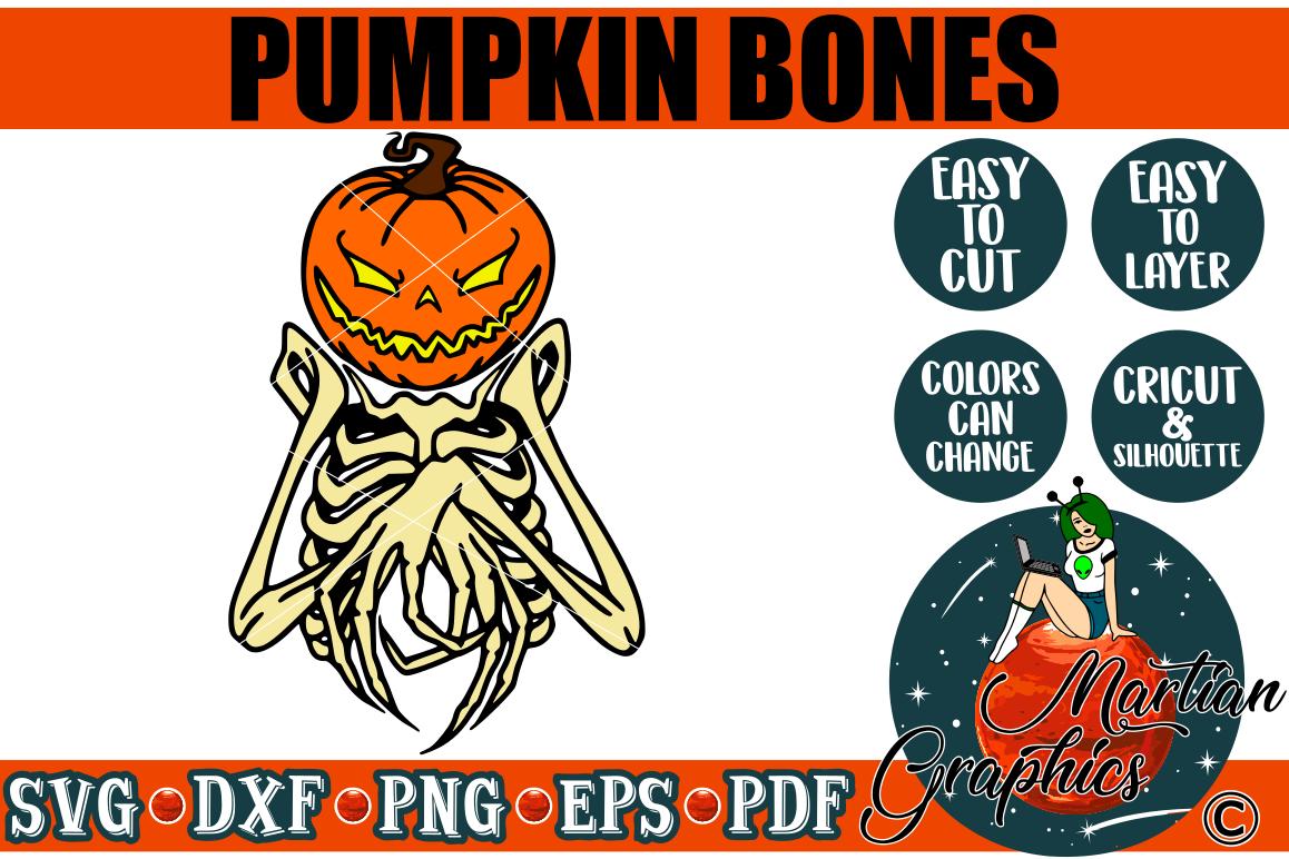 Halloween Pumpkin Bones Cut File example image 1