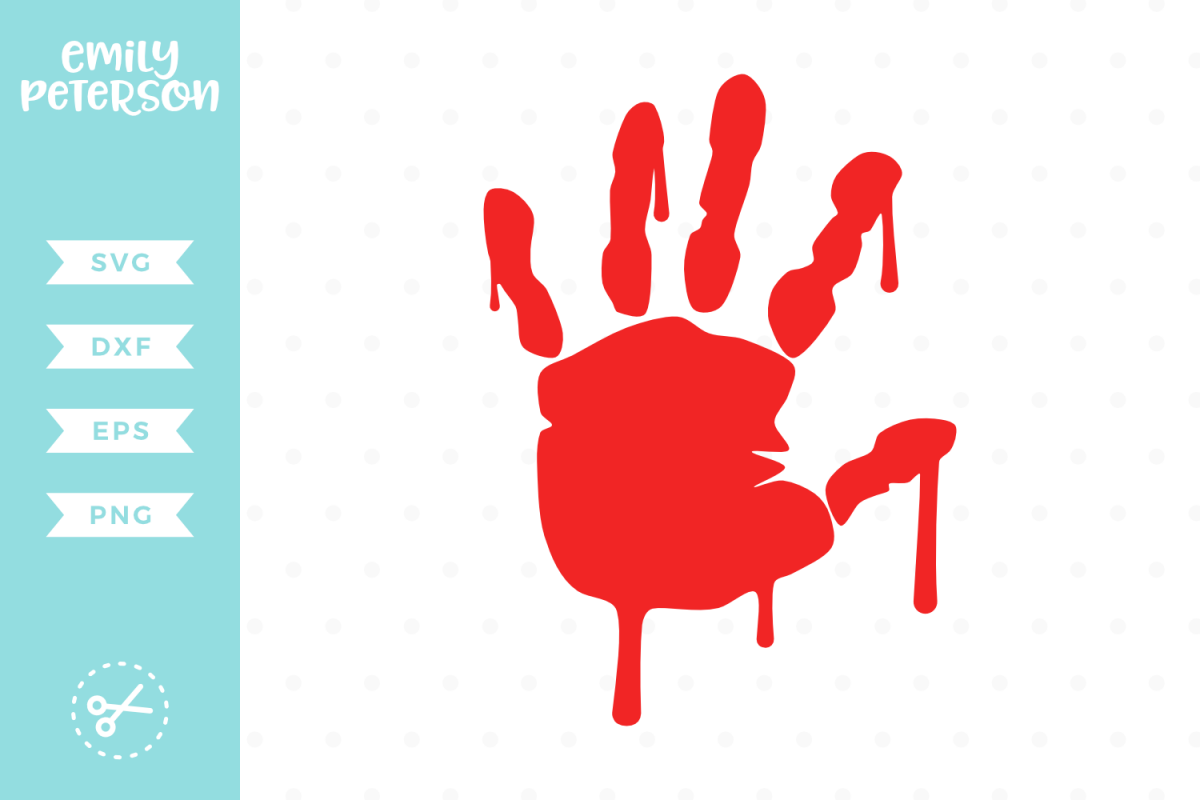 Bloody Handprint SVG DXF EPS PNG
