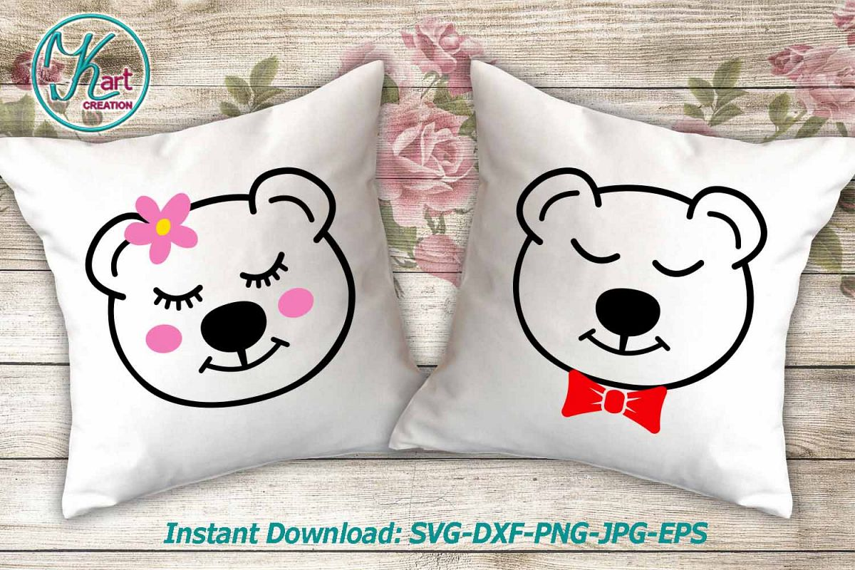 Baby bears boy girl face ready for cut print files svg png example image 1 e59fce7813
