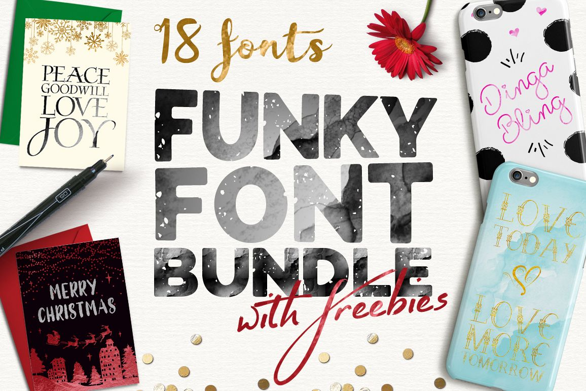 Funky Font Bundle example image 1