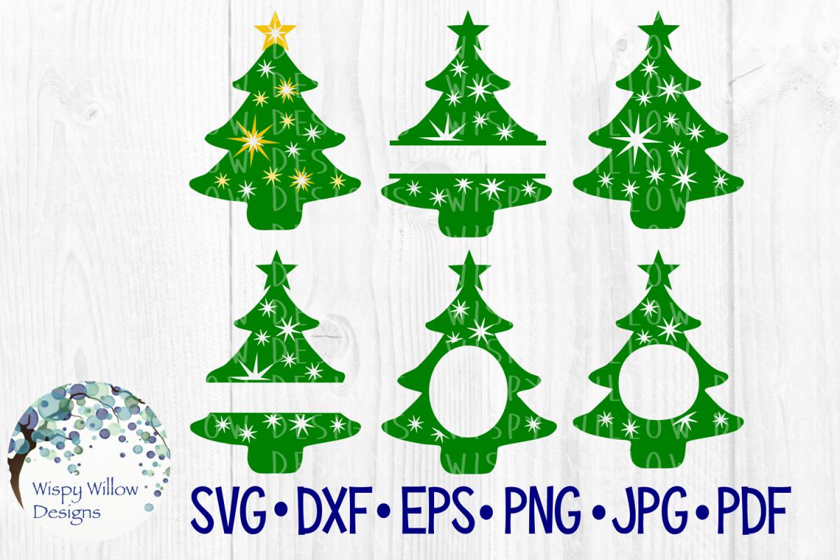 Christmas Tree Bundle, Christmas, Name, Monogram, Frame SVG example image 1