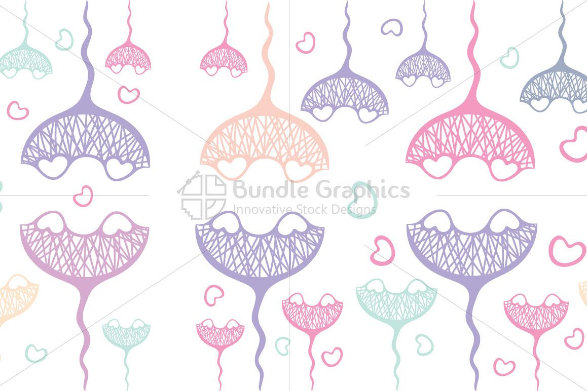 Heart Shells - Seamless Pattern example image 1