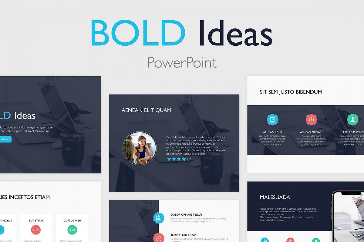 bold ideas powerpoint template by jumso design bundles