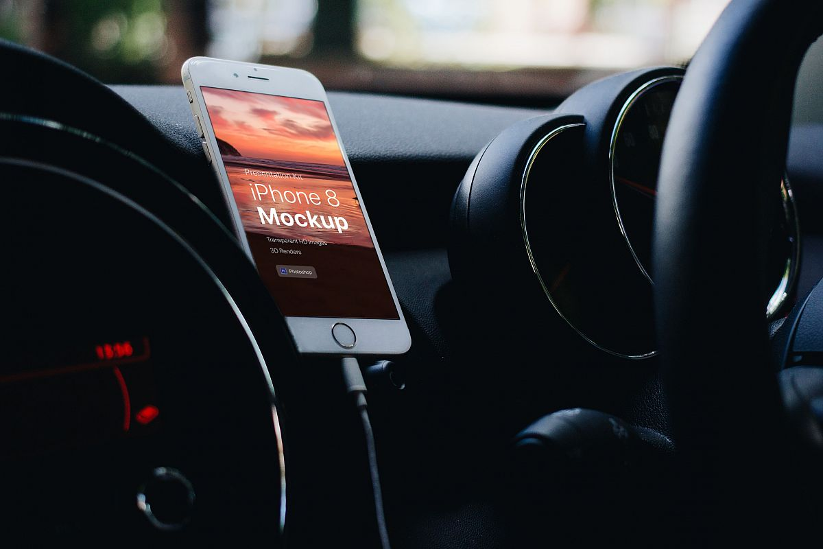 Presentation Kit - iPhone showcase Mockup_v8 example image 1