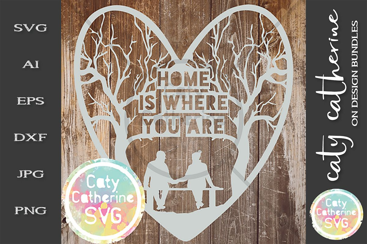 Home Is Where You Are SVG Cut File example image 1
