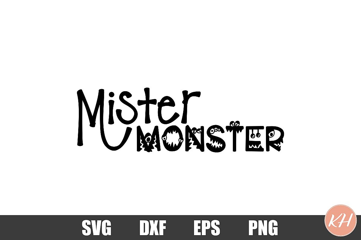Mister Monster SVG cutting file example image 1