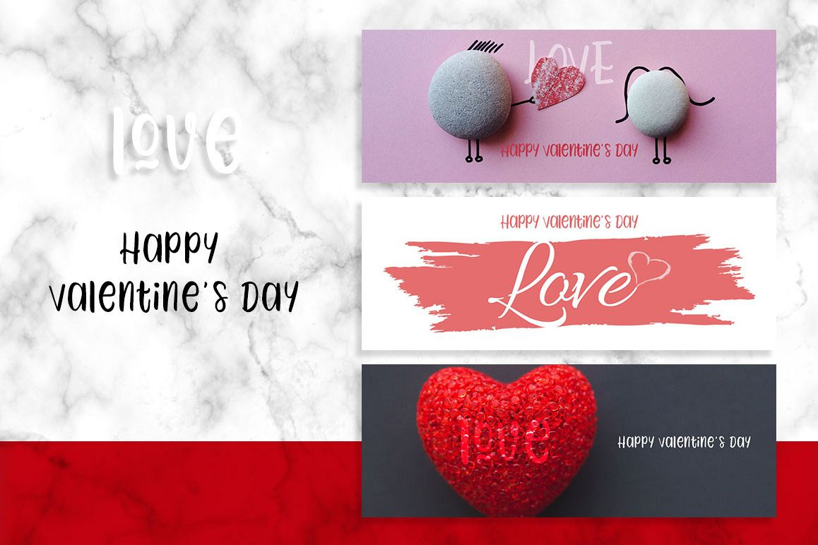 Valentine's Day Facebook Banner example image 1