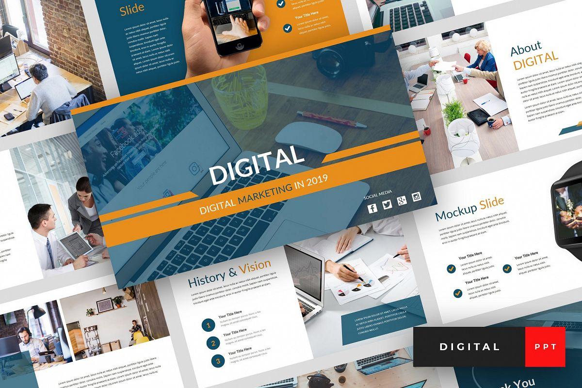 Digital Digital Marketing Powerpoint Template