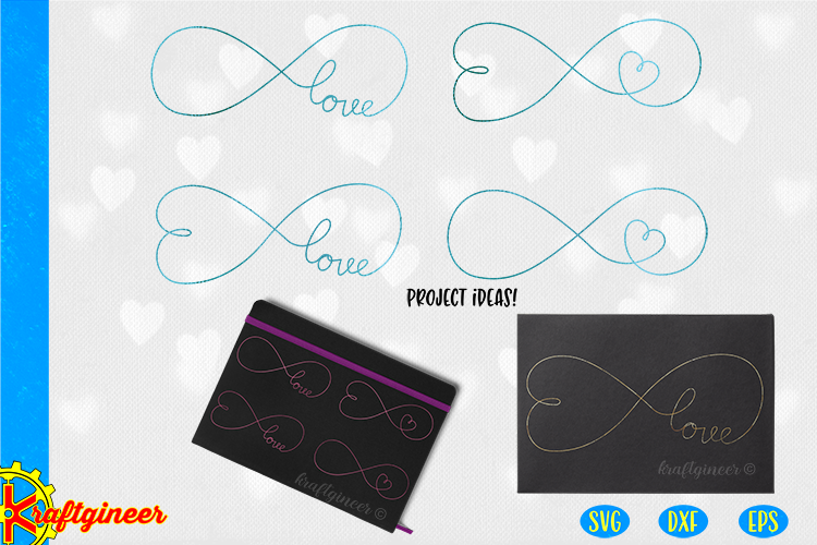 Infinity Love Single Line SVG | Single Line SVG |Foil Quill example image 1