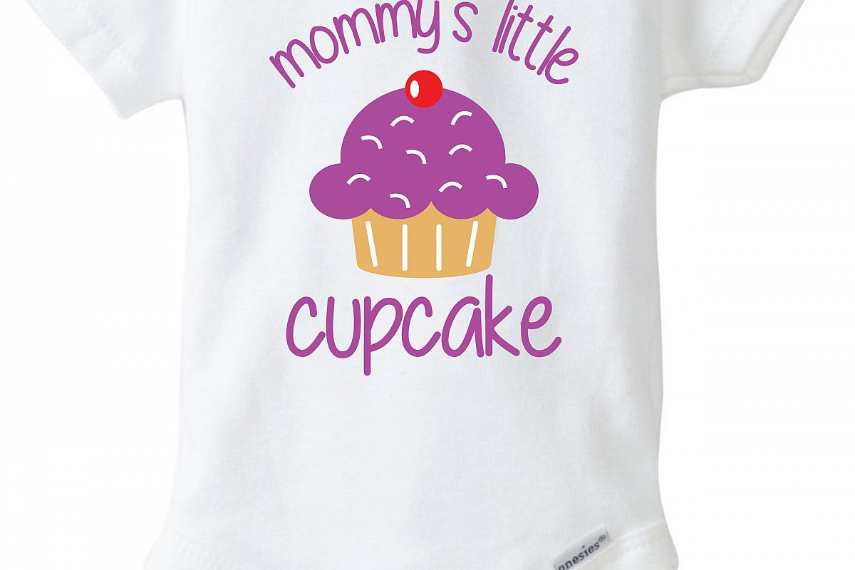 Mommys Little Cupcake Baby Onesie Design, SVG, DXF, EPS ...