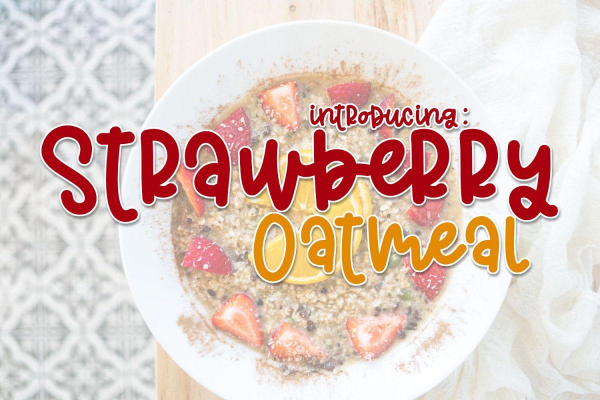 Strawberry Oatmeal example image 1