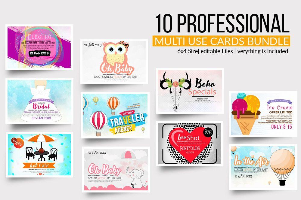 10 Multi Use Greeting Cards Bundle example image 1