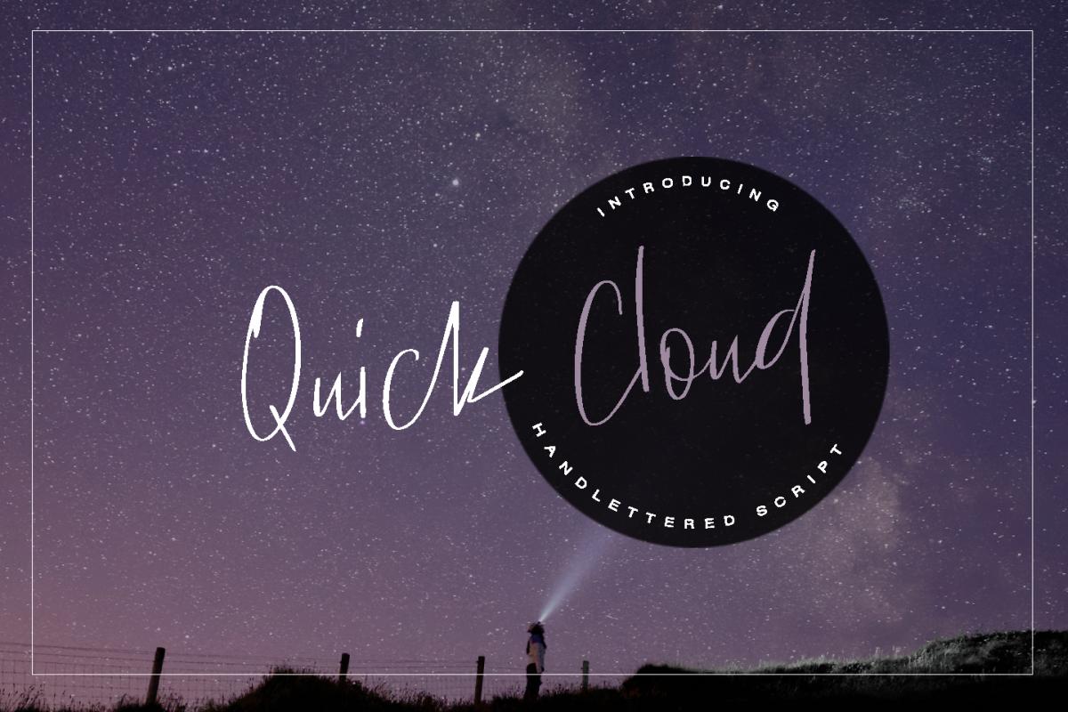 Quick Cloud - script font example image 1