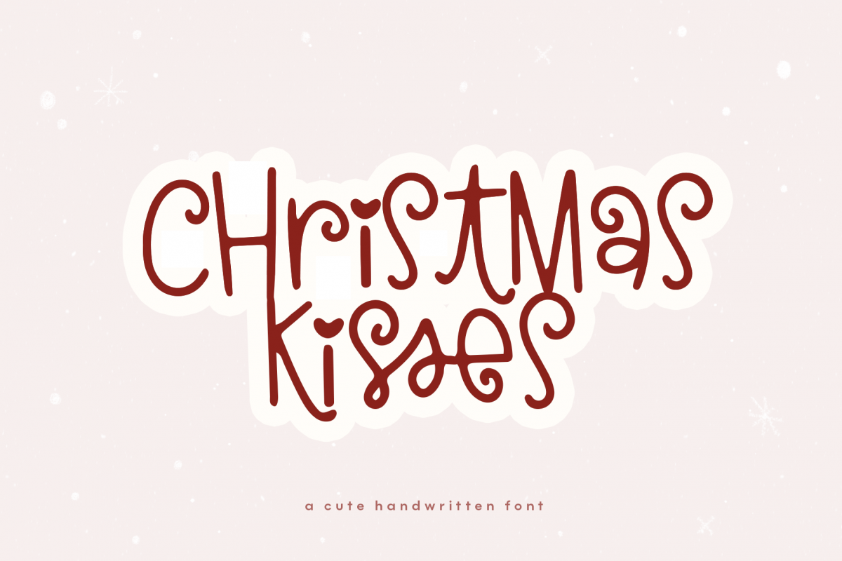 Christmas Kisses - A Cute & Quirky Holiday Font example image 1