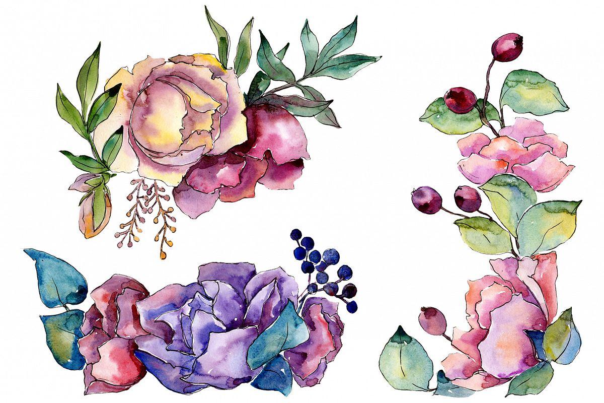 Bouquet Tender dreams watercolor example image 1