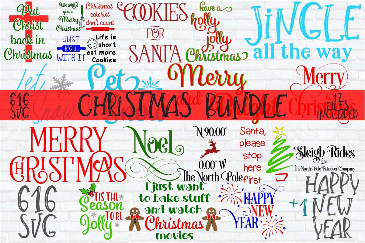 Christmas Bundle SVG, DXF, Ai, PNG example image 1