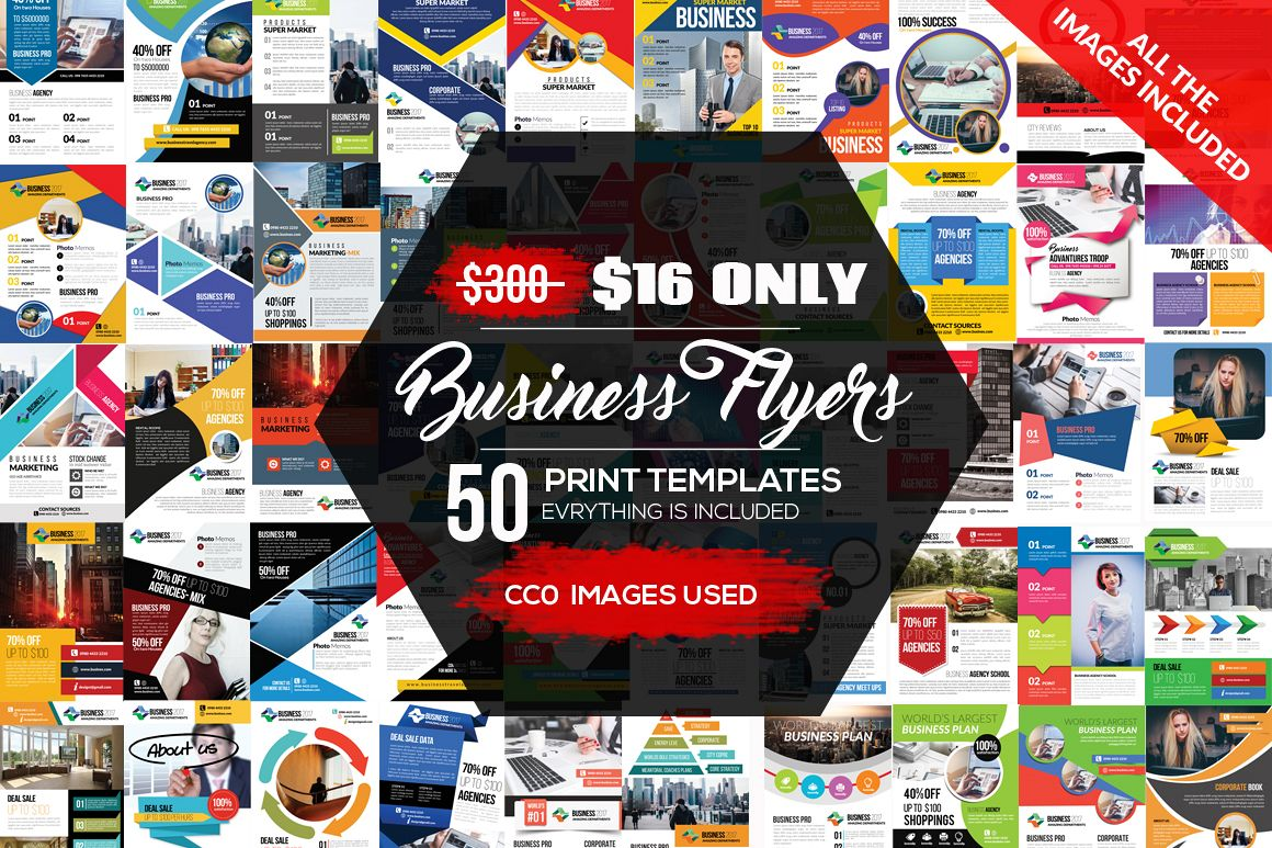 50 Business Flyers pack example image 1