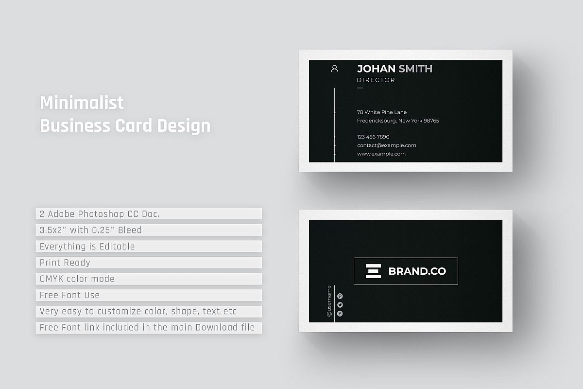 minimalist business card design example image 1 - Minimalist Business Card