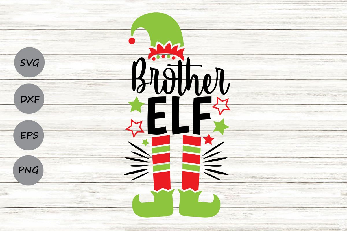 Brother Elf Svg, Christmas Svg, Elf Svg, Brother Svg. example image 1