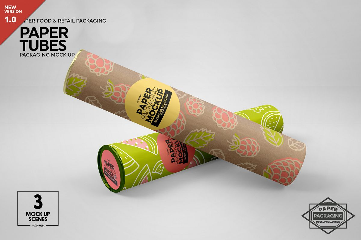 Paper Tube Packaging Mockup example image 1