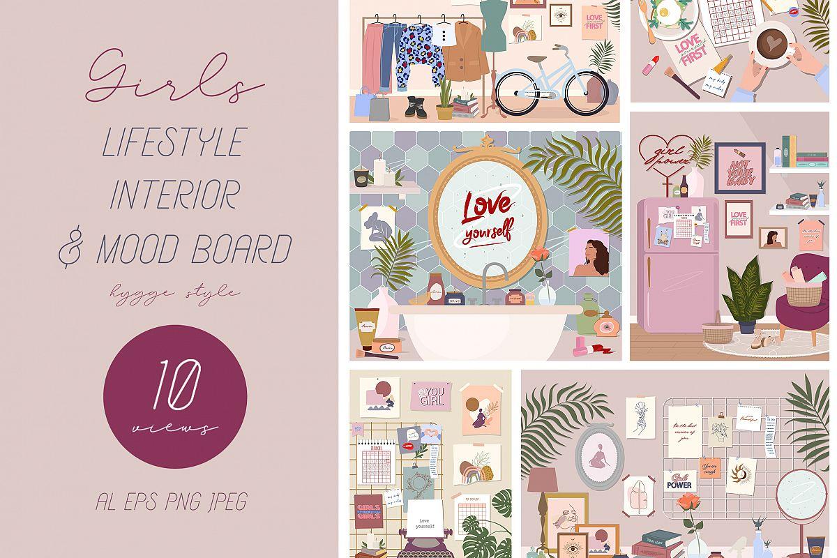 Lifestyle interior & mood board example image 1