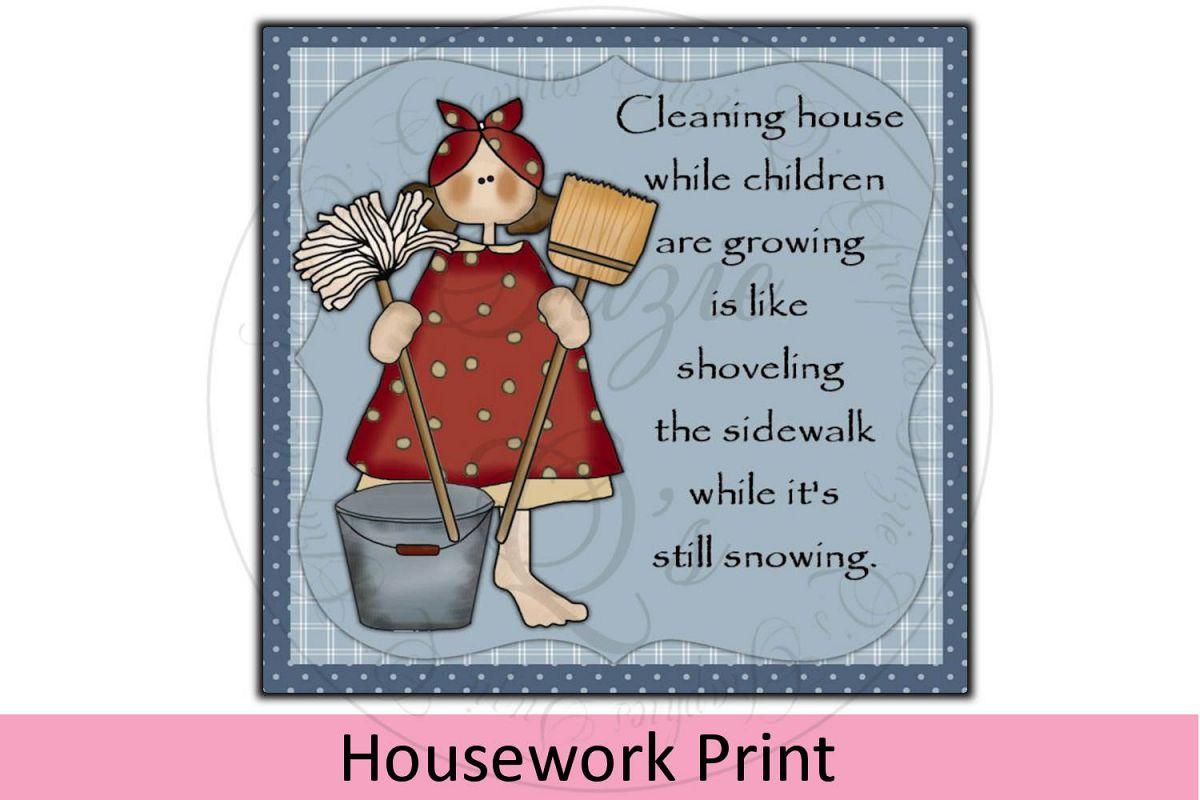 Housework Print example image 1