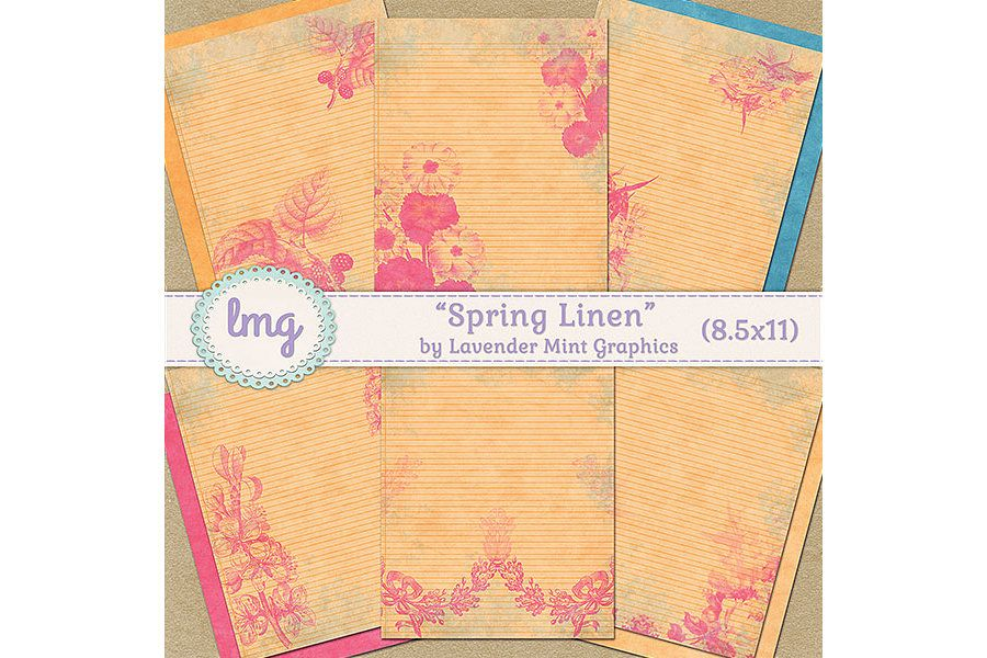 Spring Linen Journal Papers example image