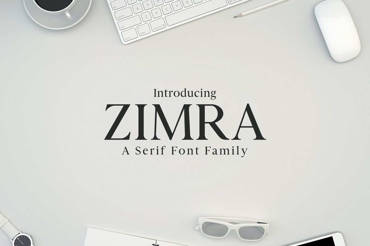 Zimra Serif Font Family example image 1