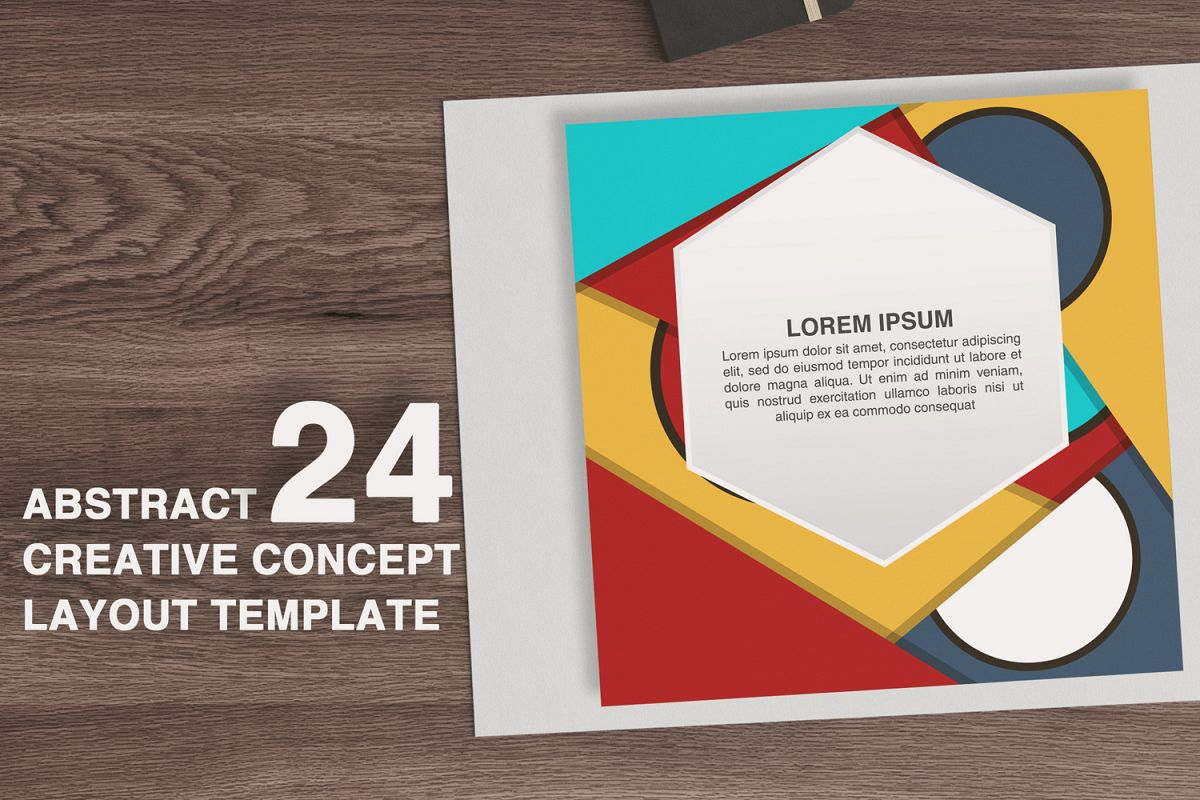24 Abstract creative concept layout template example image 1