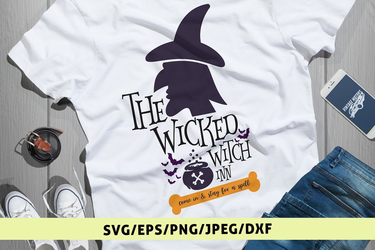 The Wicked Witches INN - Halloween SVG EPS PNG DXF Cut Files example image 1