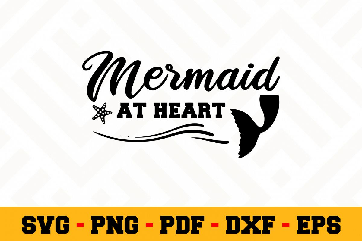 Mermaid SVG Design n524 | Mermaid SVG Cut File example image 1
