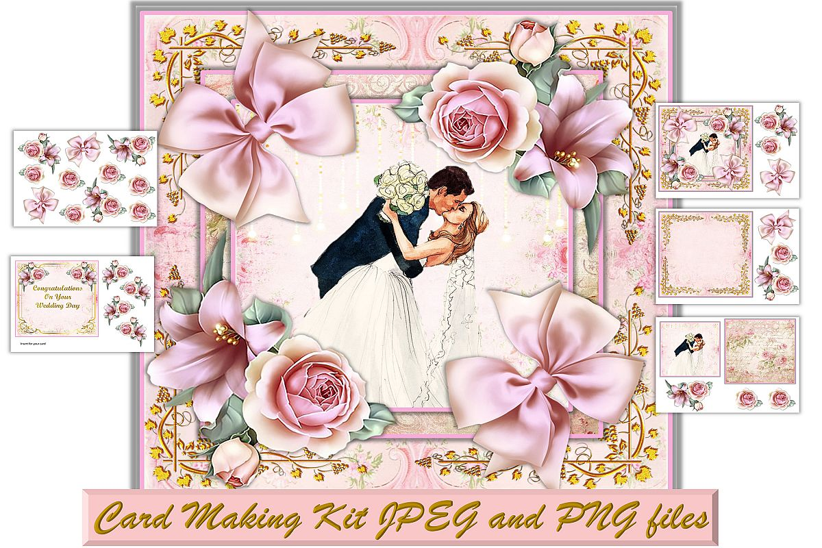 Card Making Kit with All PNG and Printables Commercial Use example image 1
