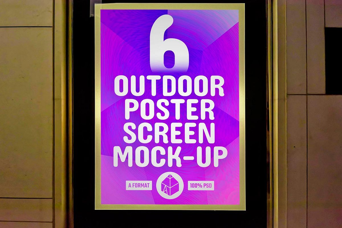 Outdoor Poster Screen Mock-Ups 3 / 6 PSD example image 1