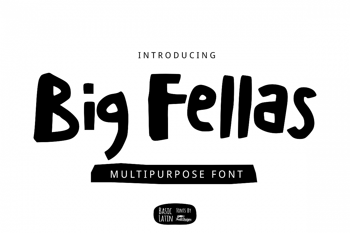 Big Fellas Cute Font example image 1