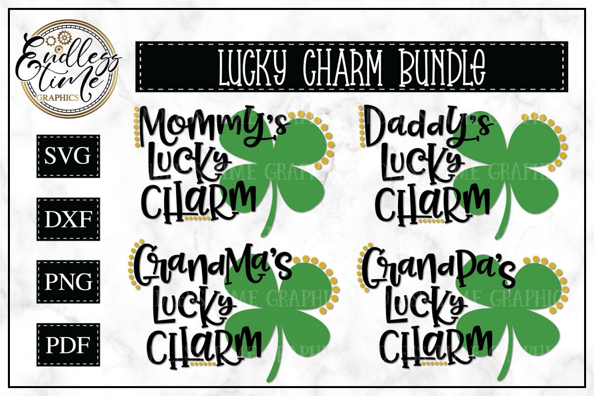 Lucky Charm Bundle - 4 Lucky Charm SVG Files example image 1