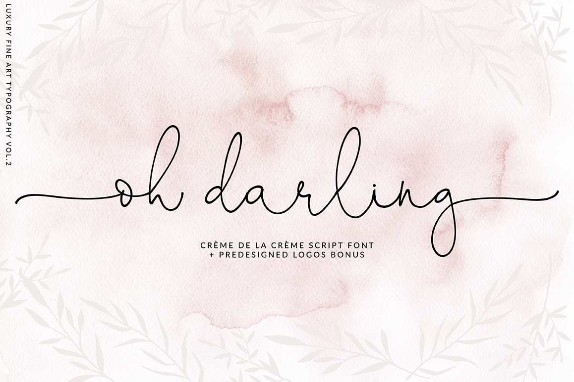 Oh Darling- Ethereal Script Font example image 1