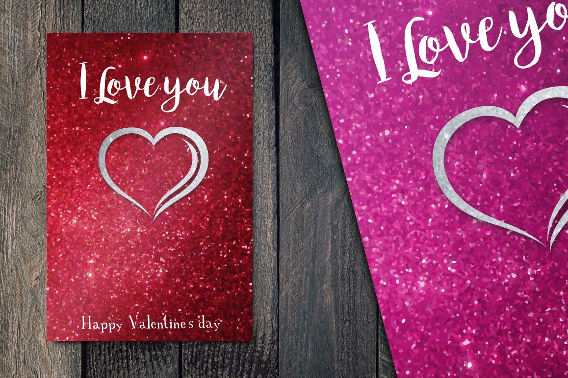 Valentines's Day greetings cards example image 1